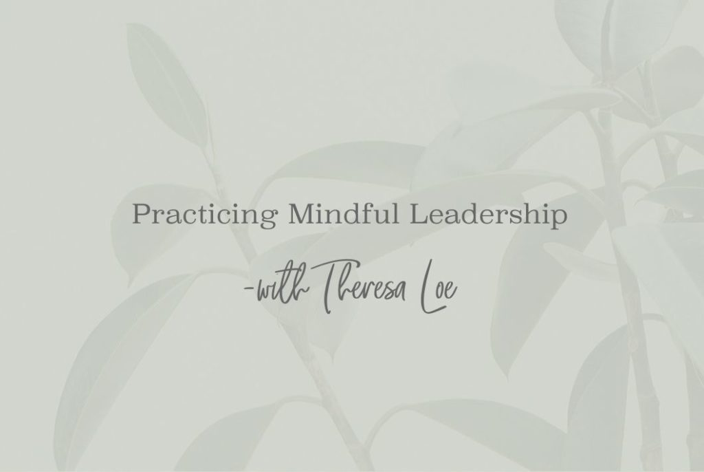 SS 10 Practicing Mindful Leadership - www.theresaloe.com