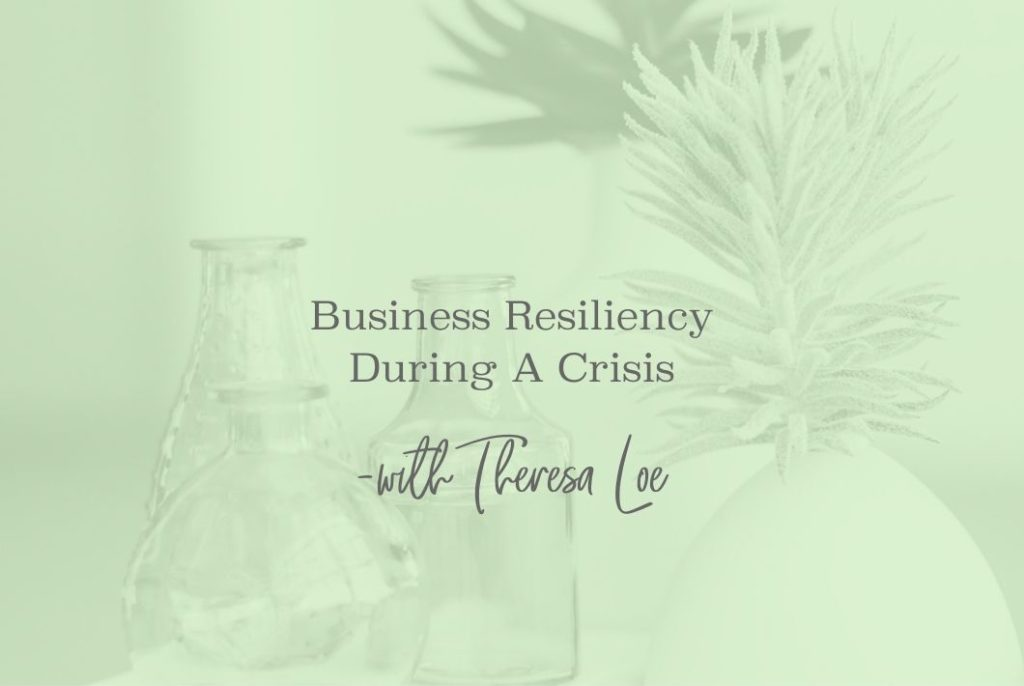 SS 23 Business Resiliency During A Crisis - www.TheresaLoe.com