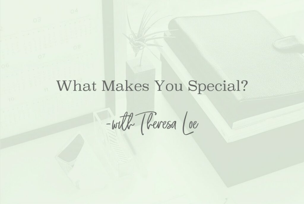 SS 87 Mini What Makes You Special - www.TheresaLoe.com