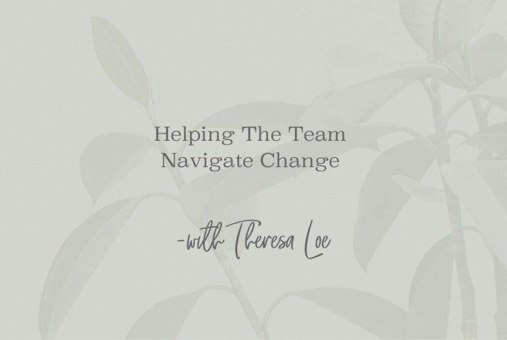 SS 91 Mini Helping The Team Navigate Change - www.TheresaLoe.com