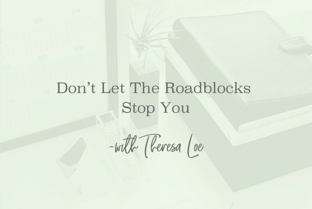 SS 111 Don't Let The Roadblocks Stop You - www.TheresaLoe.com